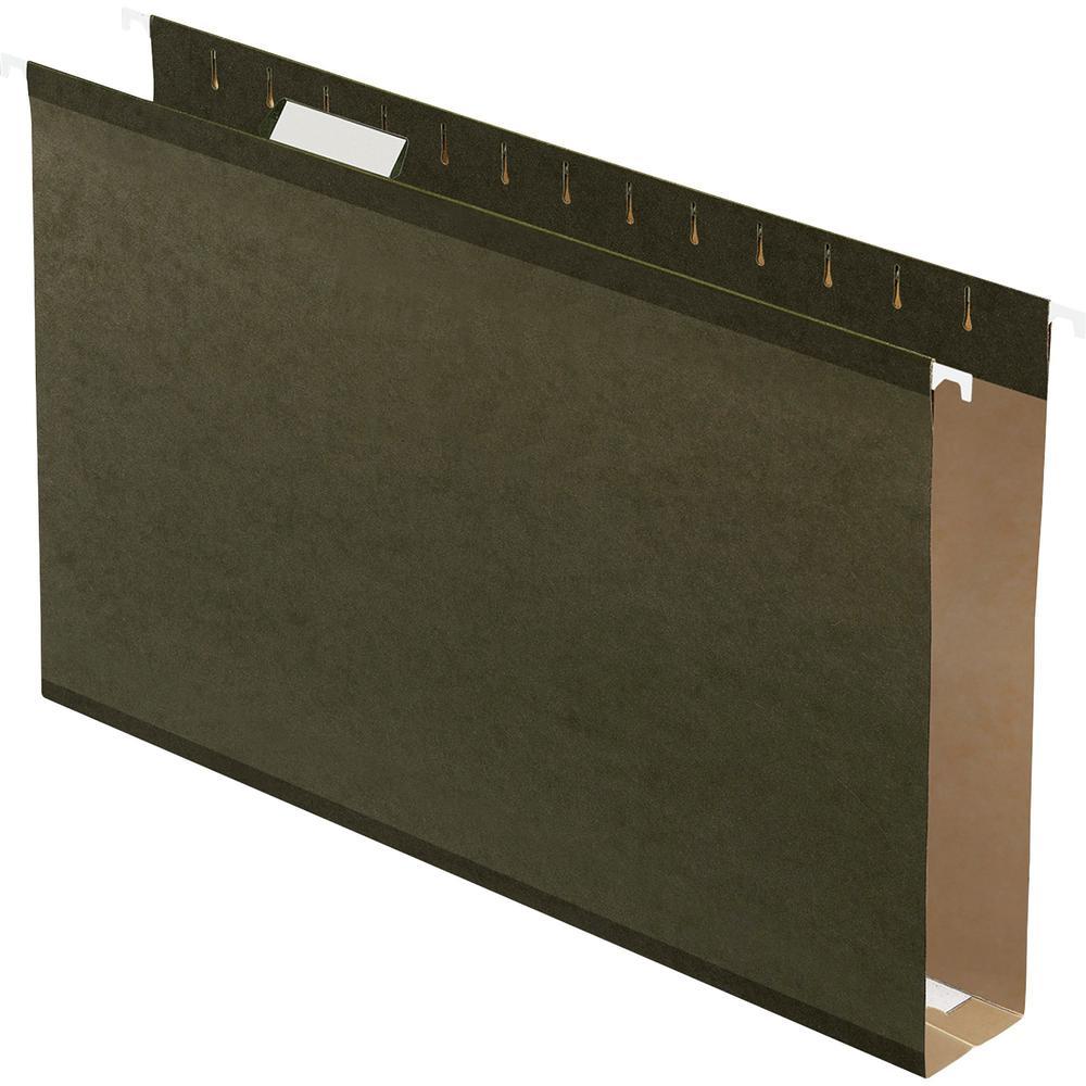 "Pendaflex Legal Recycled Hanging Folder - 2"" Folder Capacity - 8 1/2"" x 14"" - Pressboard - Standard Green - 10% - 25 / Box. Picture 1"