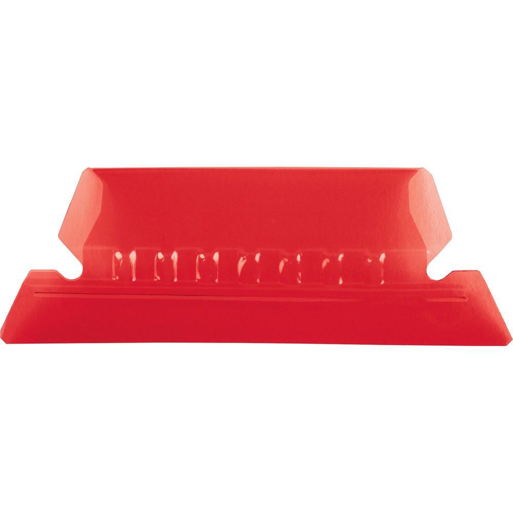 "Pendaflex Hanging Folder Plastic Tabs - 25 Tab(s) - 5 Tab(s)/Set2"" Tab Width - Red Plastic Tab(s) - 25 / Pack. Picture 1"