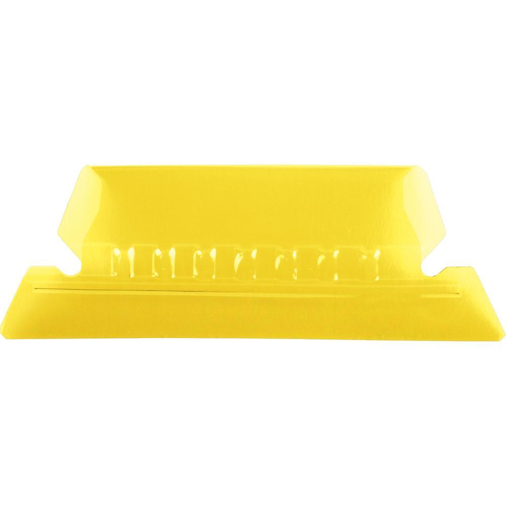 "Pendaflex Hanging Folder Plastic Tabs - 25 Tab(s) - 5 Tab(s)/Set2"" Tab Width - Yellow Plastic Tab(s) - 25 / Pack. Picture 1"