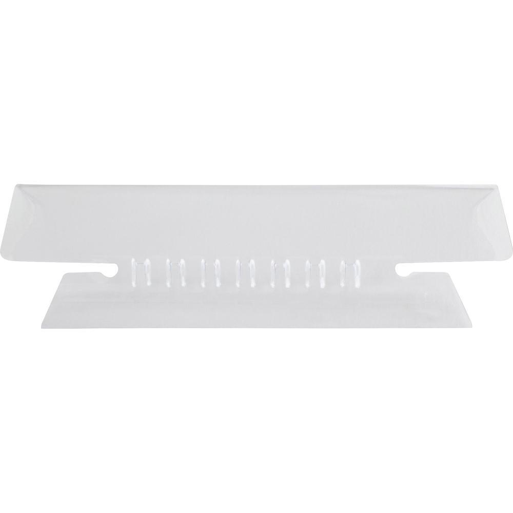 "Pendaflex Hanging Folder Plastic Insertable Tabs - 25 Tab(s)3.50"" Tab Width - Clear Plastic Tab(s) - 25 / Pack. Picture 1"
