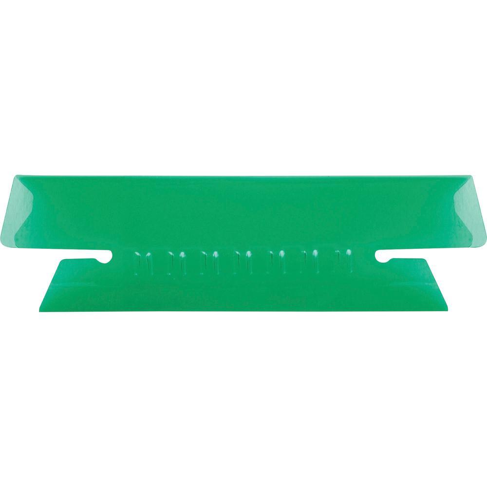 "Pendaflex Hanging Folder Plastic Insertable Tabs - 25 Tab(s) - 3 Tab(s)/Set3.50"" Tab Width - Green Plastic Tab(s) - 25 / Pack. Picture 1"