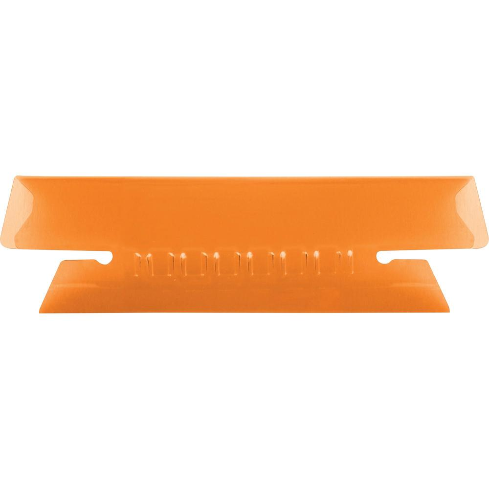"Pendaflex Hanging Folder Plastic Insertable Tabs - 3 Tab(s)/Set3.50"" Tab Width - Orange Plastic Tab(s) - 25 / Pack. The main picture."