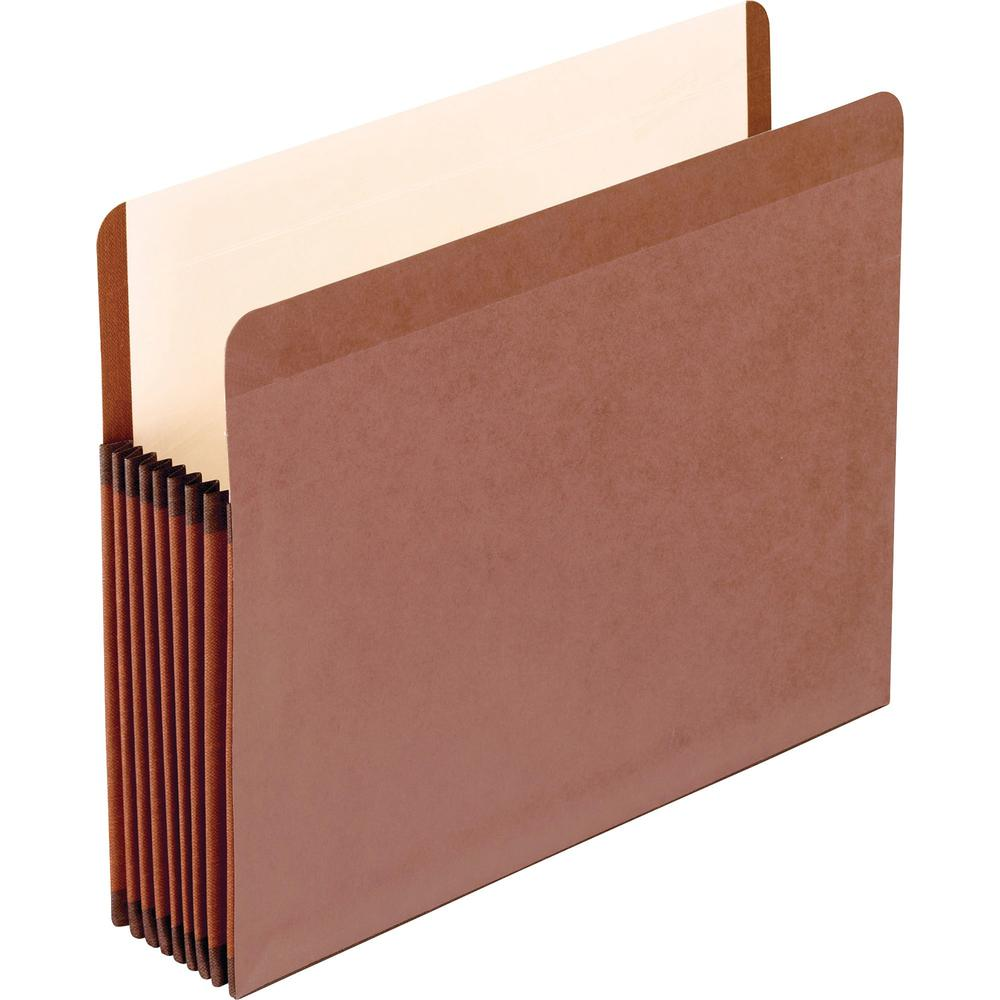 """Pendaflex Straight Tab Cut Letter Recycled File Pocket - 8 1/2"""" x 11"""" - 7"""" Expansion - Red Fiber - Red Fiber - 30% - 5 / Box. Picture 1"""