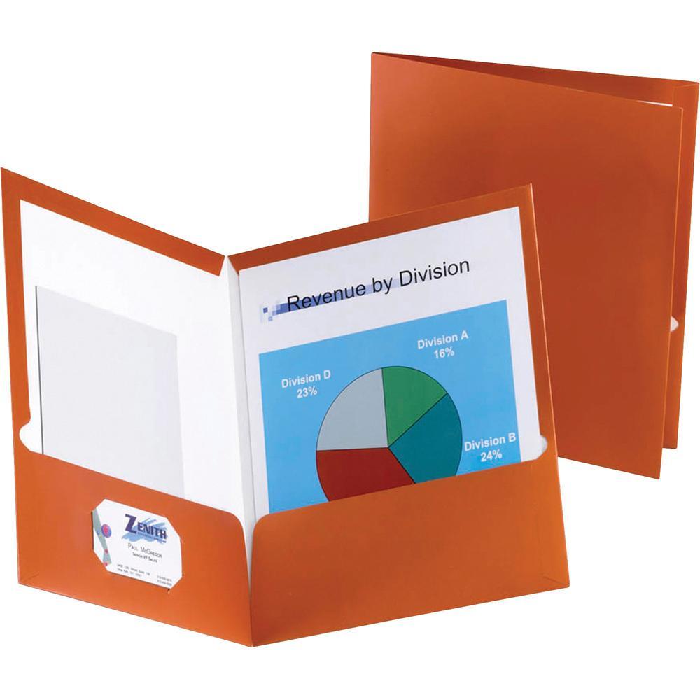 "Oxford Letter Pocket Folder - 8 1/2"" x 11"" - 150 Sheet Capacity - 2 Pocket(s) - Paper - Copper - 25 / Box. Picture 1"