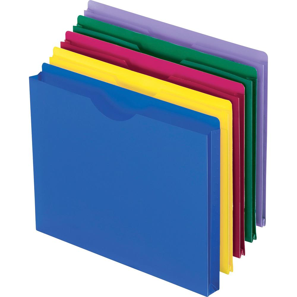 """Pendaflex Letter File Jacket - 8 1/2"""" x 11"""" - 1"""" Expansion - Poly - Assorted - 10 / Pack. Picture 1"""
