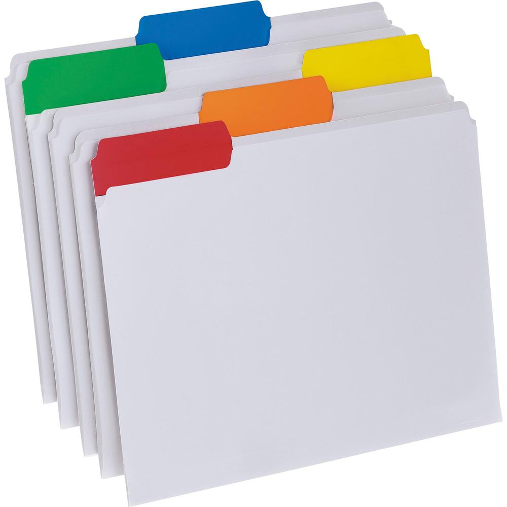 """Pendaflex EasyView 1/3 Tab Cut Letter Top Tab File Folder - 8 1/2"""" x 11"""" - Top Tab Location - Assorted Position Tab Position - Poly - Clear - 25 / Box. Picture 1"""