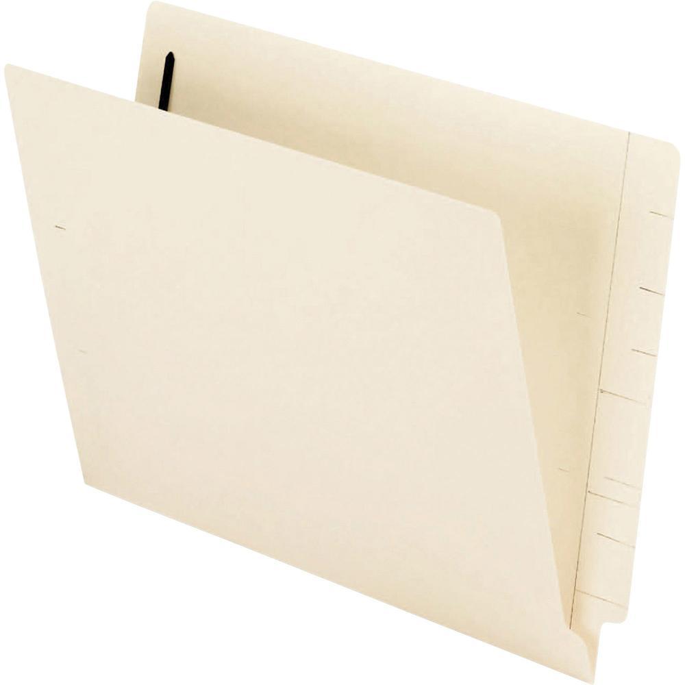 "Pendaflex Letter Recycled End Tab File Folder - 8 1/2"" x 11"" - 1 Fastener(s) - 2"" Fastener Capacity - Manila - Manila - 10% - 50 / Box. Picture 1"