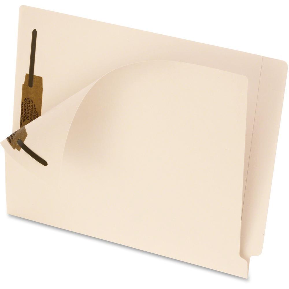 "Pendaflex Smart Shield Manila End-Tab Folders - Letter - 8 1/2"" x 11"" Sheet Size - 2 Fastener(s) - 2"" Fastener Capacity - 11 pt. Folder Thickness - Manila - Manila - Recycled - 50 / Box. Picture 1"