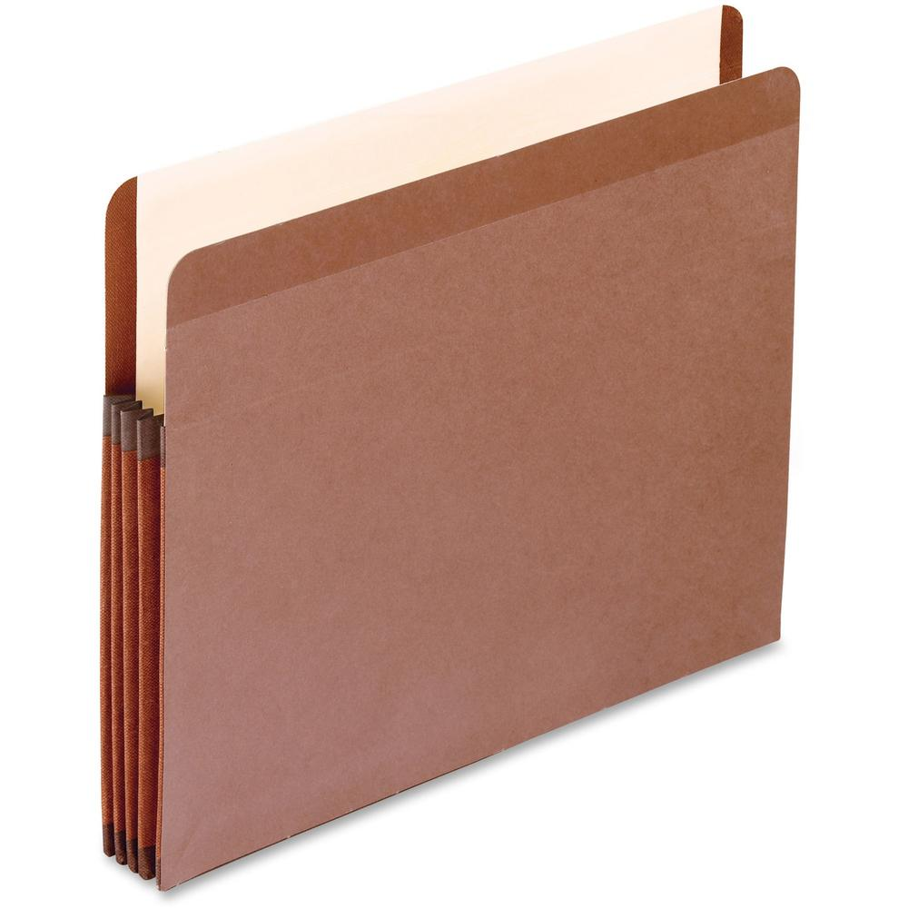 """Pendaflex Letter Recycled Expanding File - 8 1/2"""" x 11"""" - 3 1/2"""" Expansion - Red Fiber - Red Fiber - 10% - 10 / Box. Picture 1"""