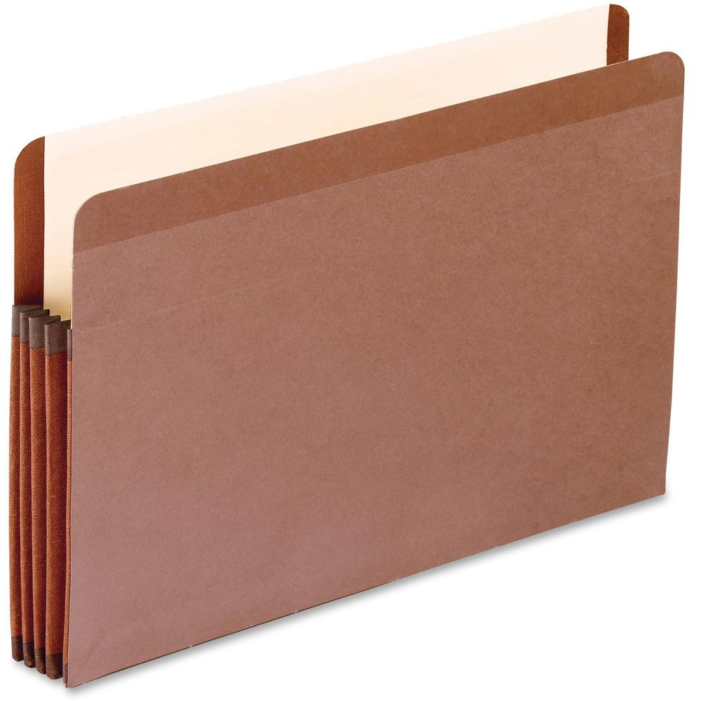 "Pendaflex Legal Recycled Expanding File - 8 1/2"" x 14"" - 3 1/2"" Expansion - Red Fiber - Red Fiber - 10% - 10 / Box. Picture 1"