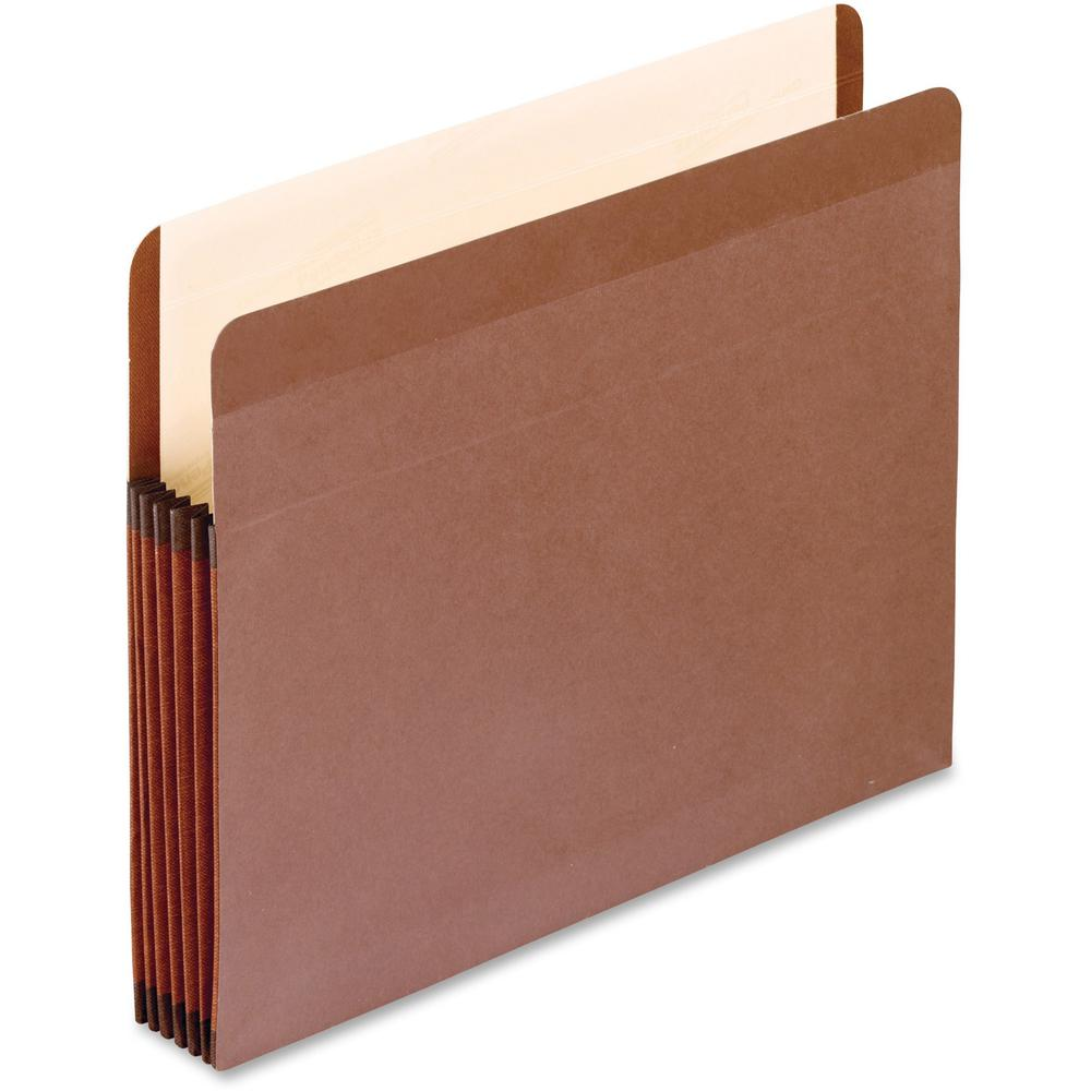 """Pendaflex Legal Recycled Expanding File - 8 1/2"""" x 14"""" - 5 1/4"""" Expansion - Red Fiber - Red Fiber, Manila - 10% - 5 / Box. Picture 1"""