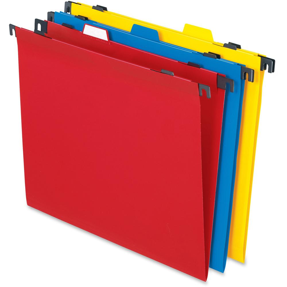"""Pendaflex 2-In-1 Poly Hanging/File Folders - Letter - 8 1/2"""" x 11"""" Sheet Size - Poly - Assorted - 10 / Pack. Picture 1"""