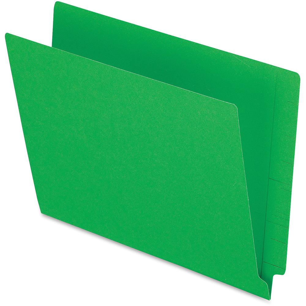 "Pendaflex Letter Recycled End Tab File Folder - 8 1/2"" x 11"" - 3/4"" Expansion - Green - 10% - 100 / Box. Picture 1"