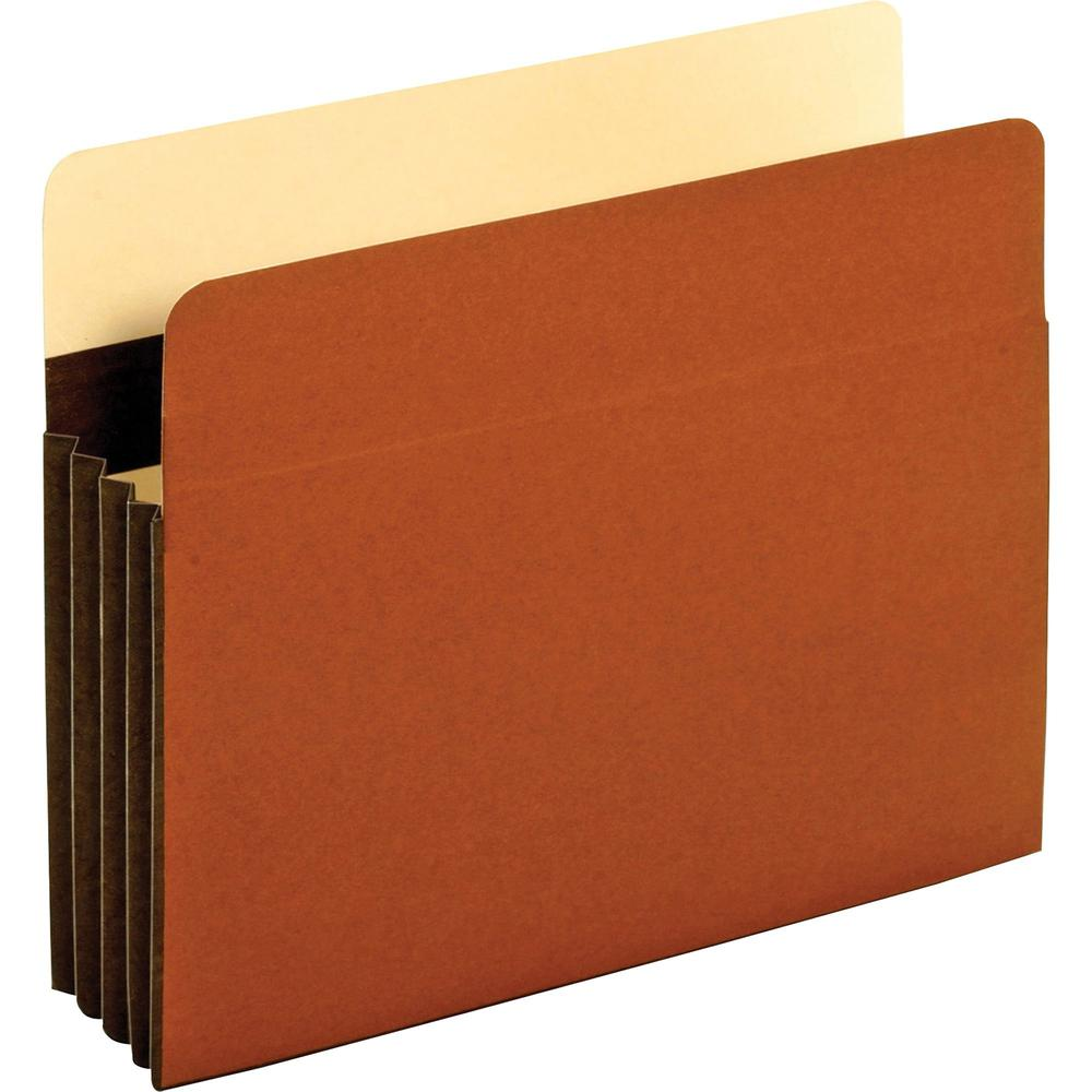 """Pendaflex Letter Recycled Expanding File - 8 1/2"""" x 11"""" - 3 1/2"""" Expansion - Tyvek - Brown - 10% - 25 / Box. Picture 1"""