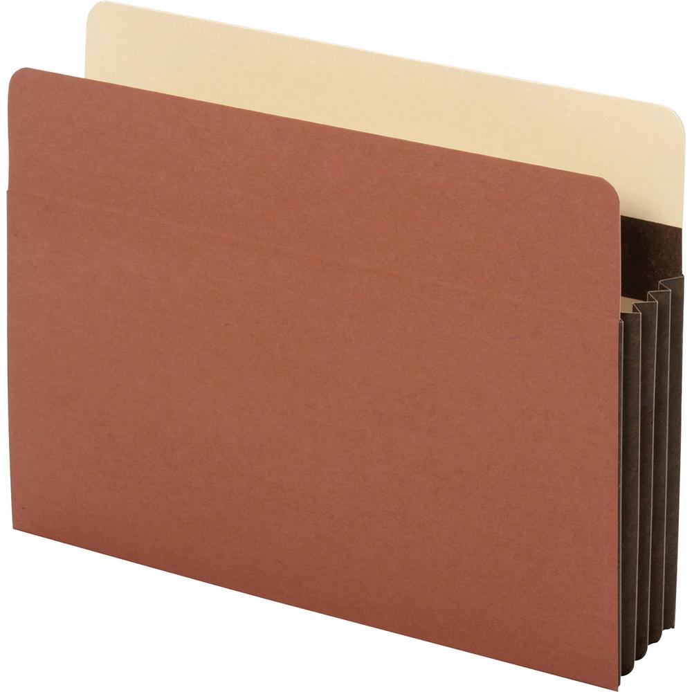 """Pendaflex Letter Recycled Expanding File - 8 1/2"""" x 11"""" - 3 1/2"""" Expansion - Tyvek - Brown - 10% - 10 / Box. Picture 1"""