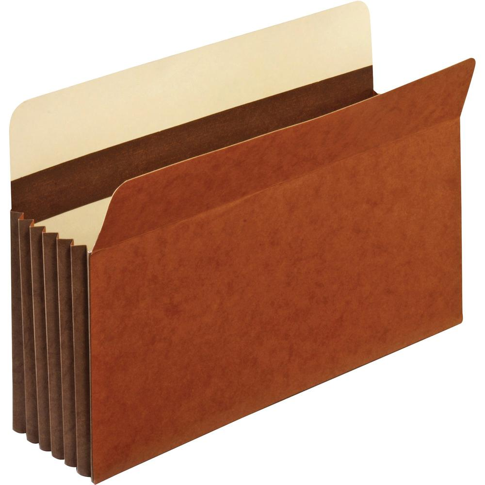 """Pendaflex Heavy-duty Accordion File Pockets - Legal - 8 1/2"""" x 14"""" Sheet Size - 5 1/4"""" Expansion - 24 pt. Folder Thickness - Tyvek - Brown - 0.16 oz - Recycled - 10 / Box. Picture 1"""