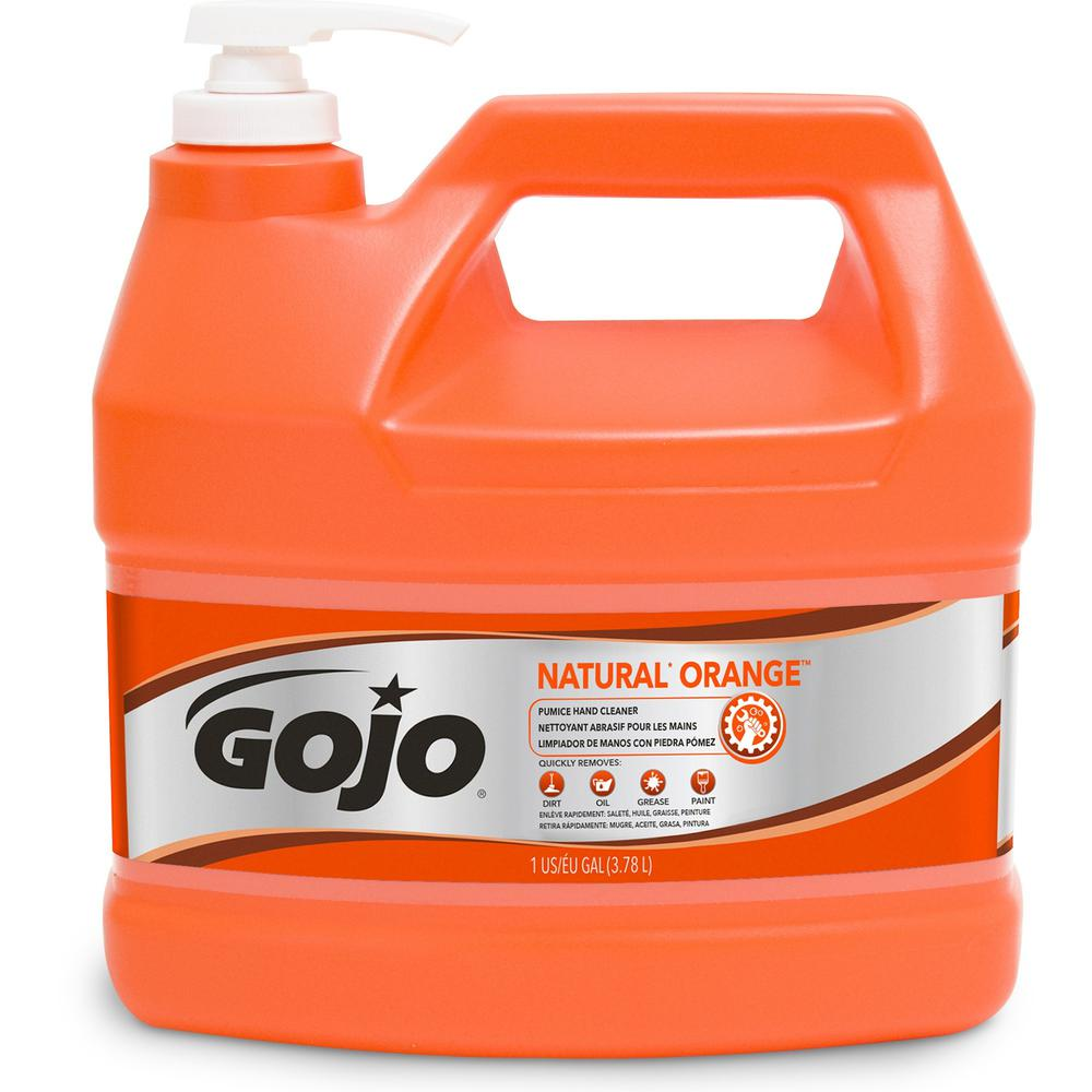 Gojo® Natural Orange Pumice Hand Cleaner - Citrus Scent - 1 gal (3.8 L) - Hand - White - 1 Each. Picture 1