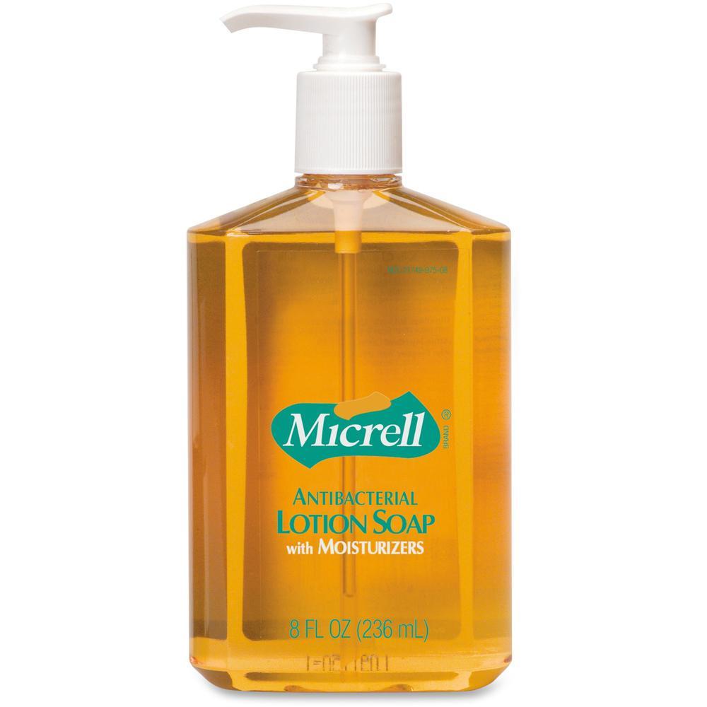 Gojo Micrell Antibacterial Lotion Liquid Soap 8 Fl Oz