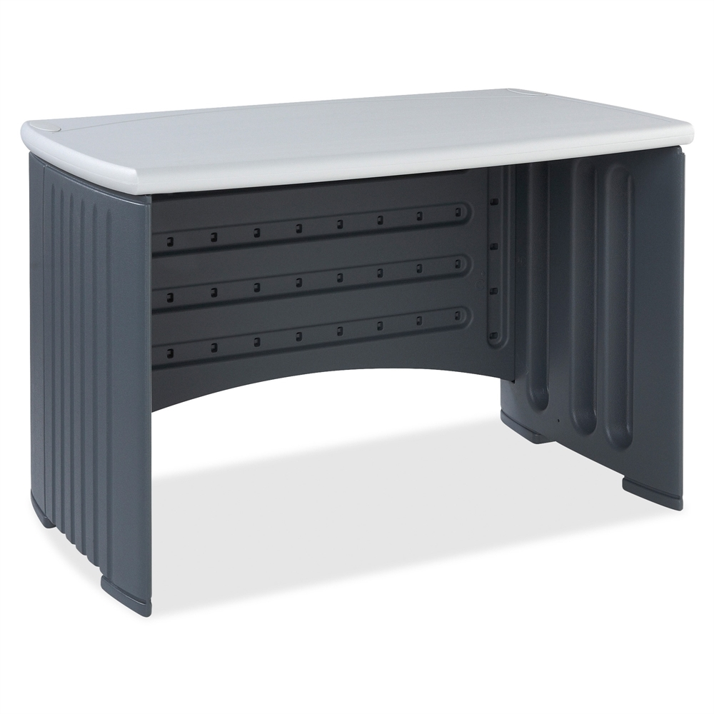 "Iceberg SnapEase Computer Desk, 46"" Length, Charcoal/Silver. Picture 1"