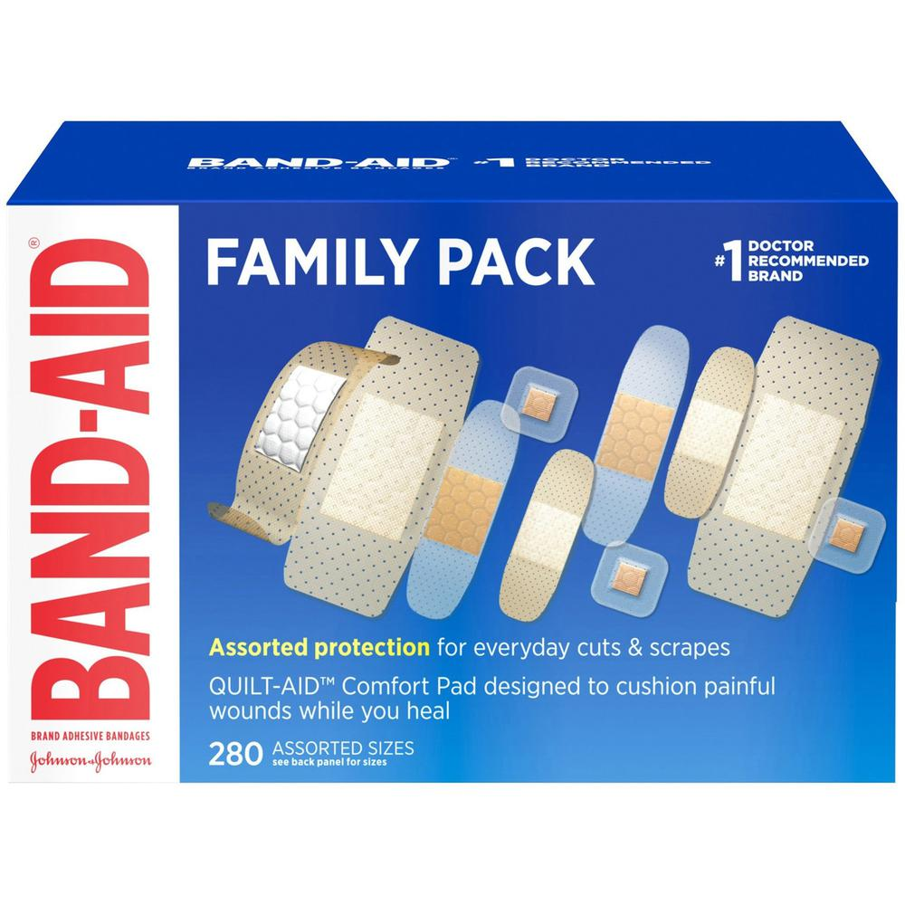 Band-Aid Variety Pack Adhesive Bandages - 280/Box - White. Picture 1