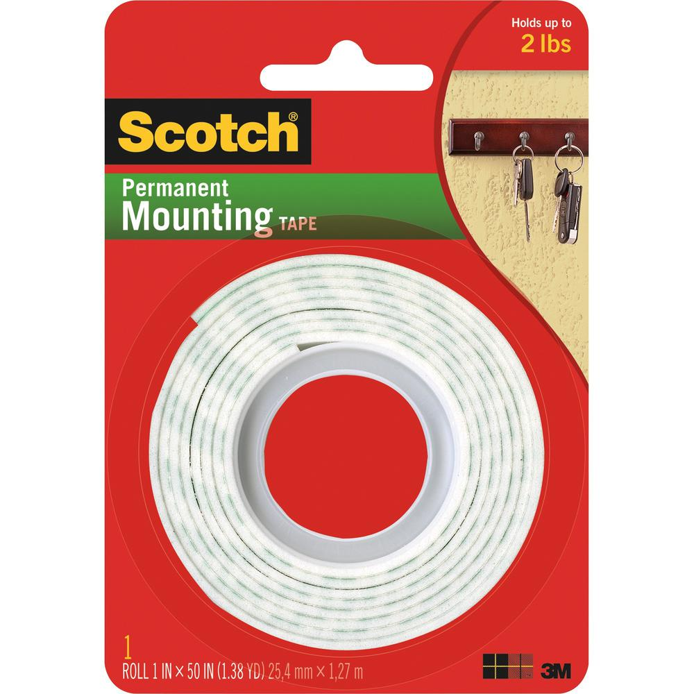 Scotch Mounting Tape 1 Quot Width X 4 17 Ft Length 1 Quot Core