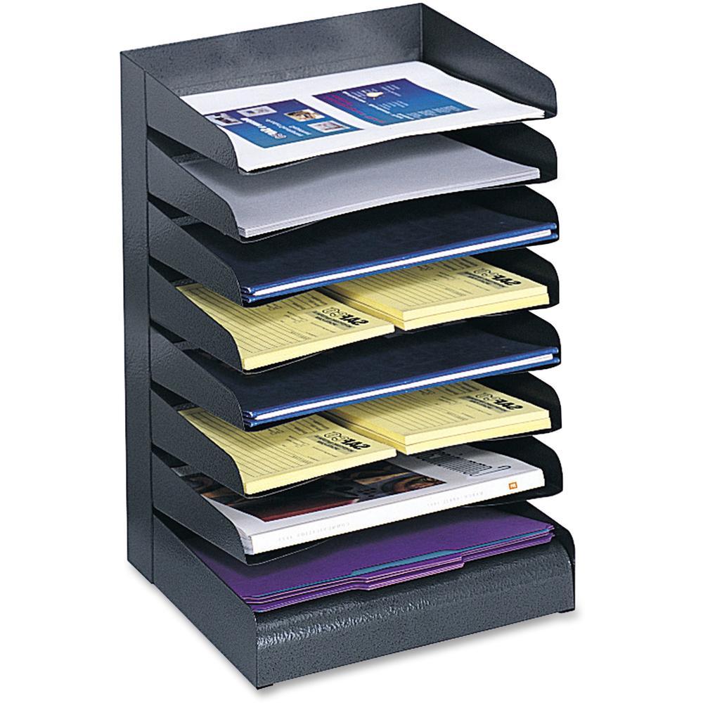 Safco Slanted Shelves Steel Desk Tray Sorter 8 Tier S