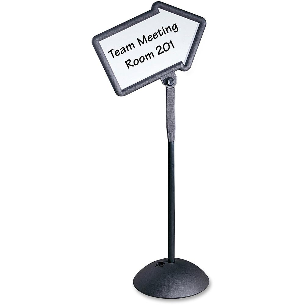 """Safco Write Way Dual-sided Directional Sign - 1 Each - 18"""" Width x 64.3"""" Height - Arrow Shape - Both Sides Display, Magnetic, Durable - Steel - Black. Picture 1"""