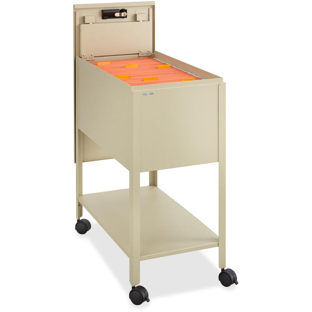 """Safco Extra Deep Mobile Tub File - 300 lb Capacity - 4 Casters - 2"""" Caster Size - Steel - x 13.5"""" Width x 24.8"""" Depth x 28.3"""" Height - Putty - 1 Each. Picture 2"""