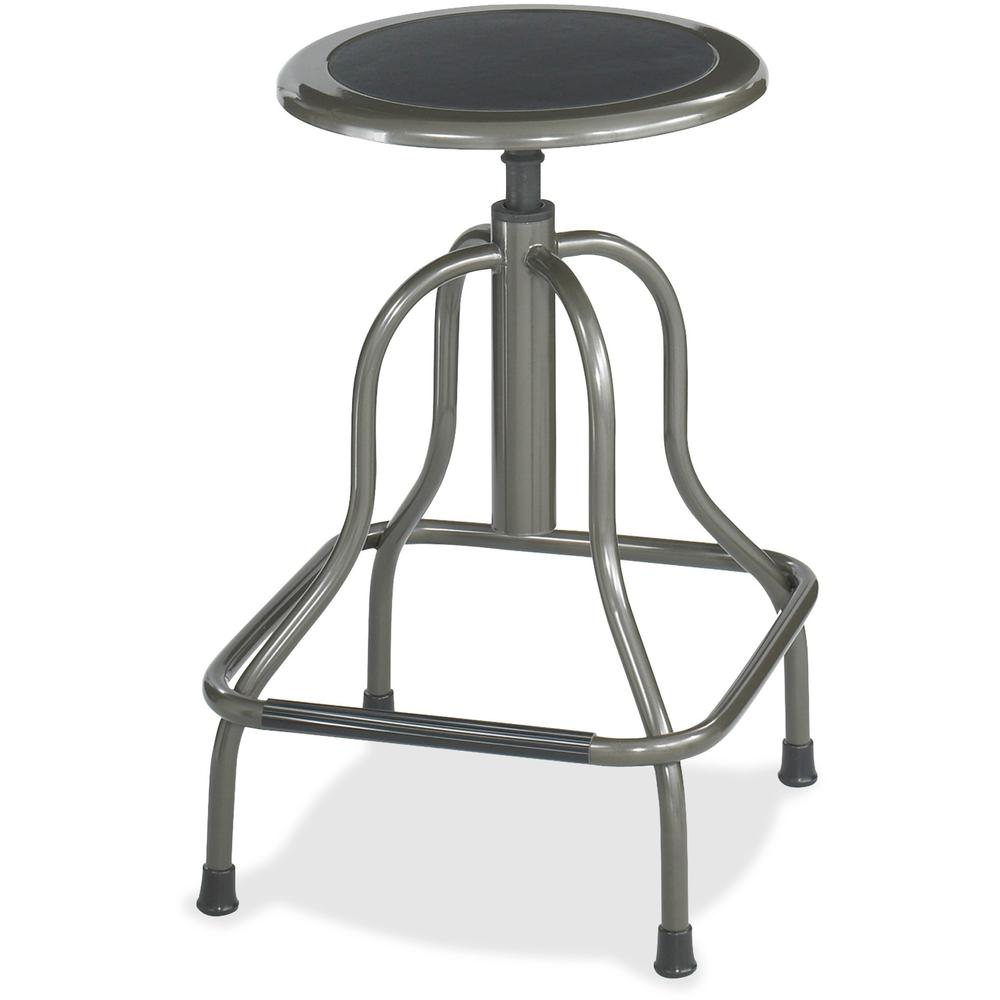 Safco Diesel Series High Base Stool with out Back - 250 lb Load Capacity - Steel - Pewter. Picture 1