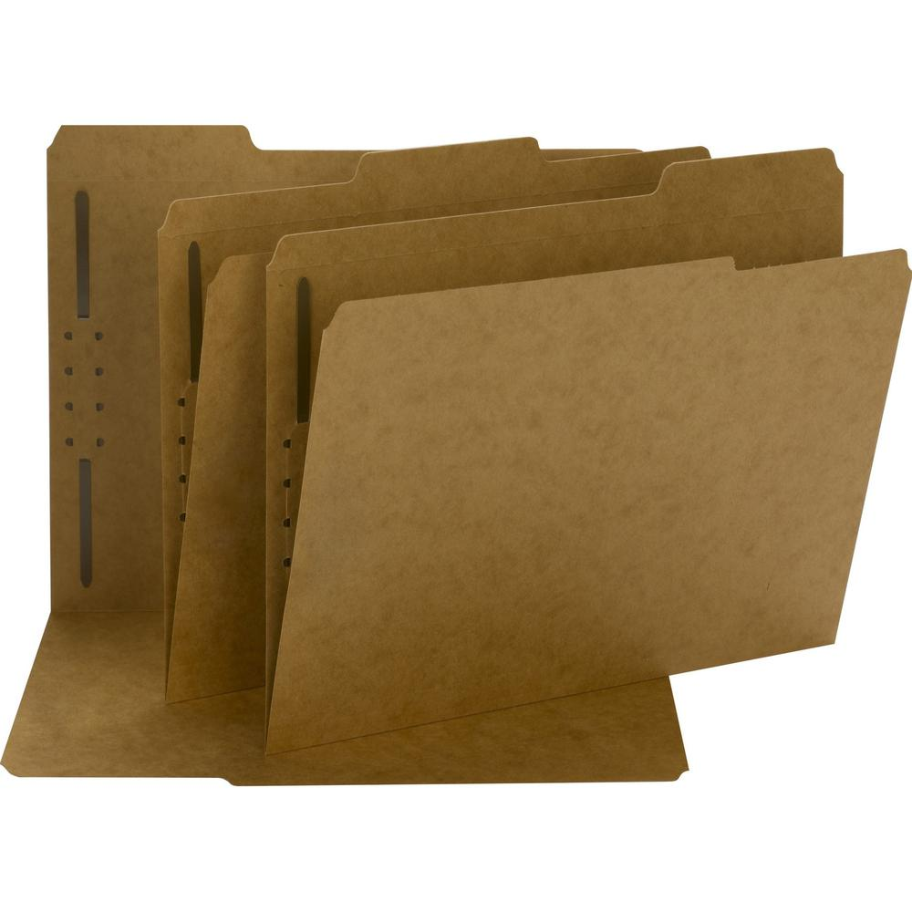 """Smead Fastener File Folders - Letter - 8 1/2"""" x 11"""" Sheet Size - 3/4"""" Expansion - 1 x 2K Fastener(s) - 2"""" Fastener Capacity for Folder - Straight Tab Cut - Top Tab Location - Assorted Position Tab Pos. Picture 1"""