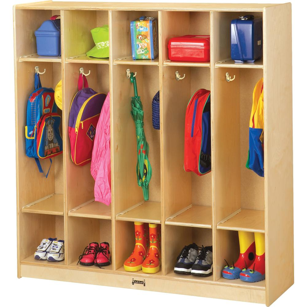 """Jonti-Craft 5 Section Coat Locker - 5 Compartment(s) - 50.5"""" Height x 48"""" Width x 15"""" Depth - Baltic - Birch Plywood - 1Each. Picture 1"""