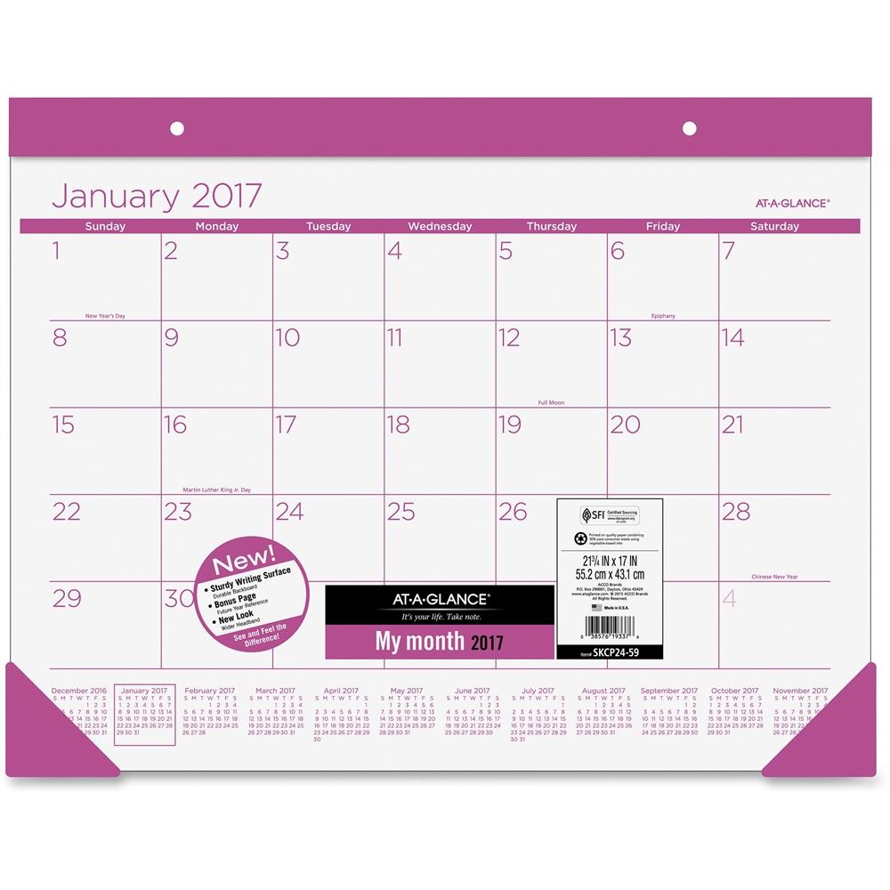 Desk Pad Calendars & Refills