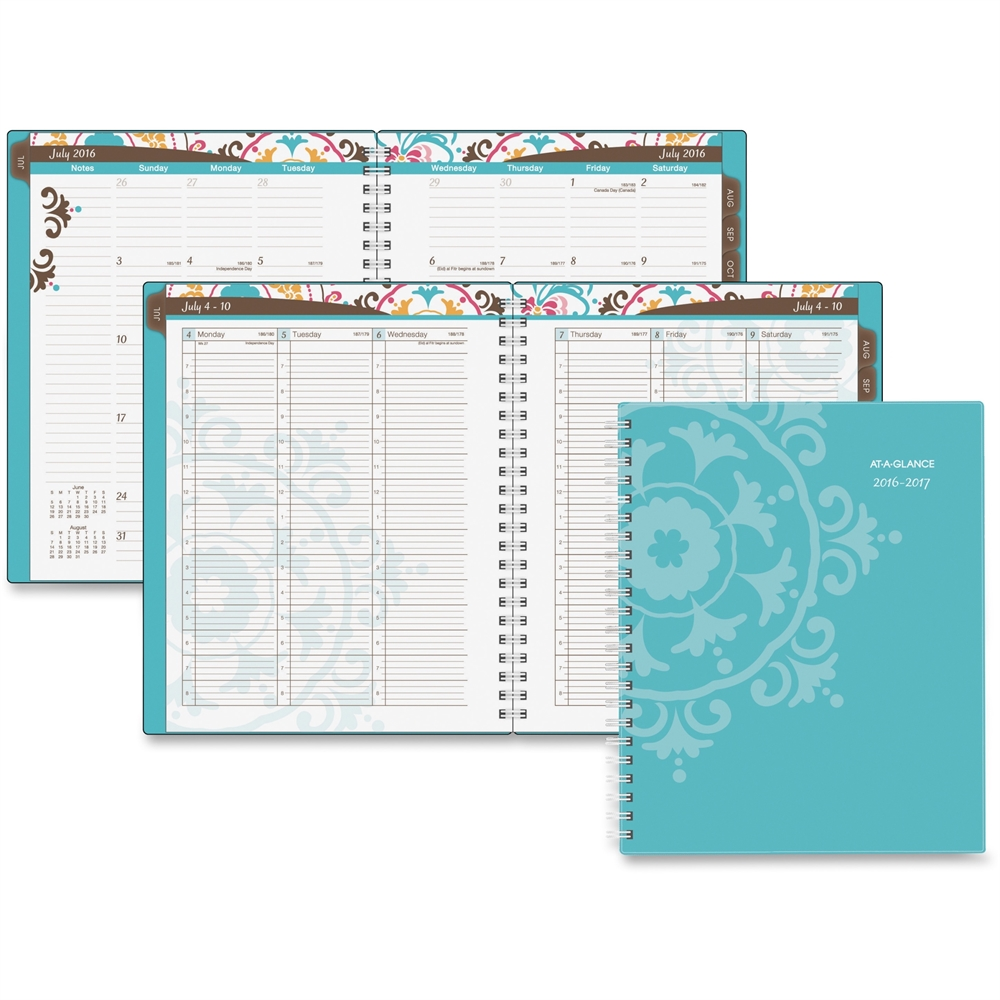At-A-Glance Suzani Professional Wkly/Mthly Planner - Academic - Julian