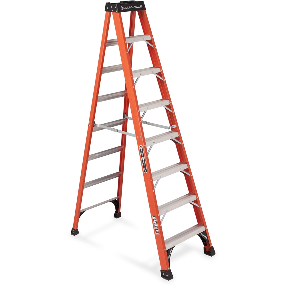 Louisville Davidson Ladders 8 Ft Fiberglass Iaa Step