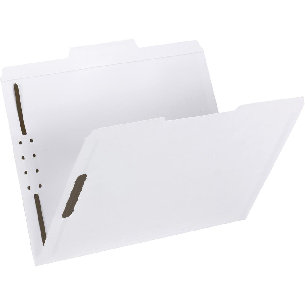 """Smead Fastener File Folders - Letter - 8 1/2"""" x 11"""" Sheet Size - 3/4"""" Expansion - 2 x Prong K Style Fastener(s) - 2"""" Fastener Capacity - 1/3 Tab Cut - Assorted Position Tab Position - 11 pt. Folder Th. Picture 1"""
