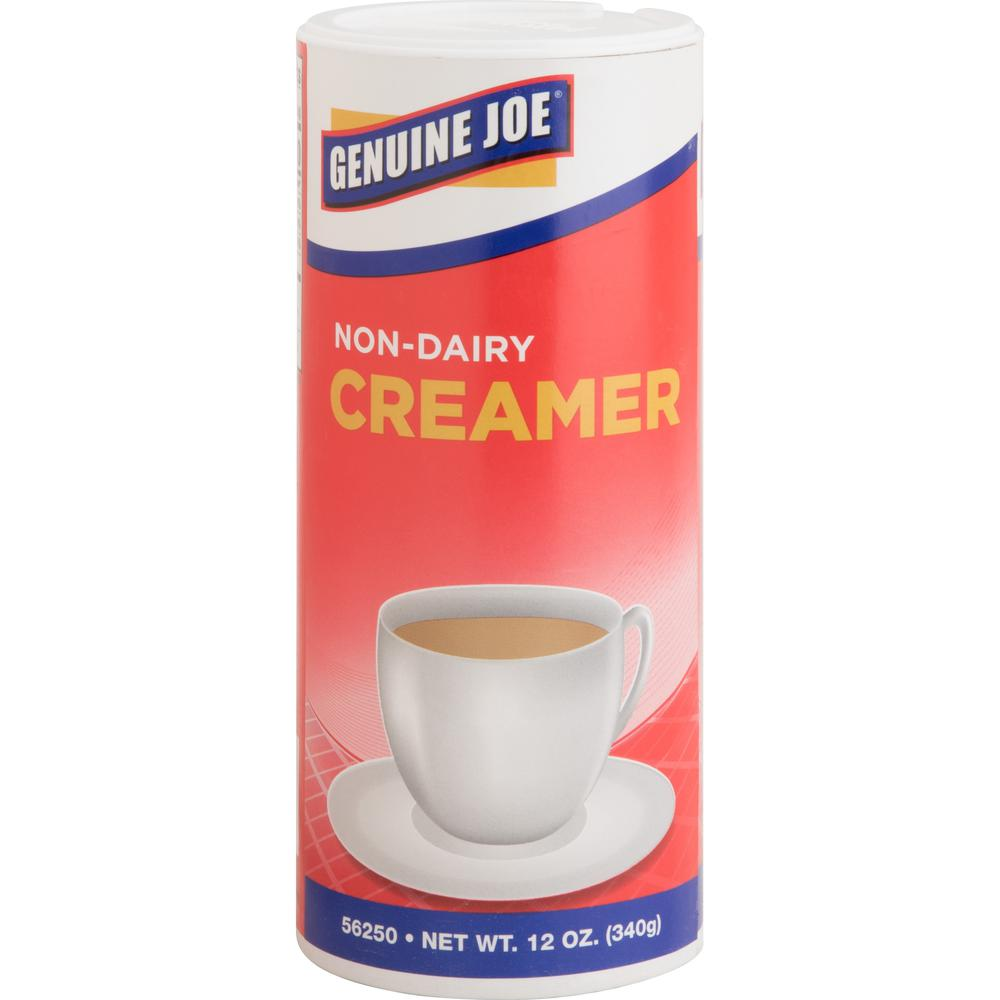 Genuine Joe Nondairy Creamer Canister - 0.75 lb (12 oz) Canister - 3/Pack. Picture 1