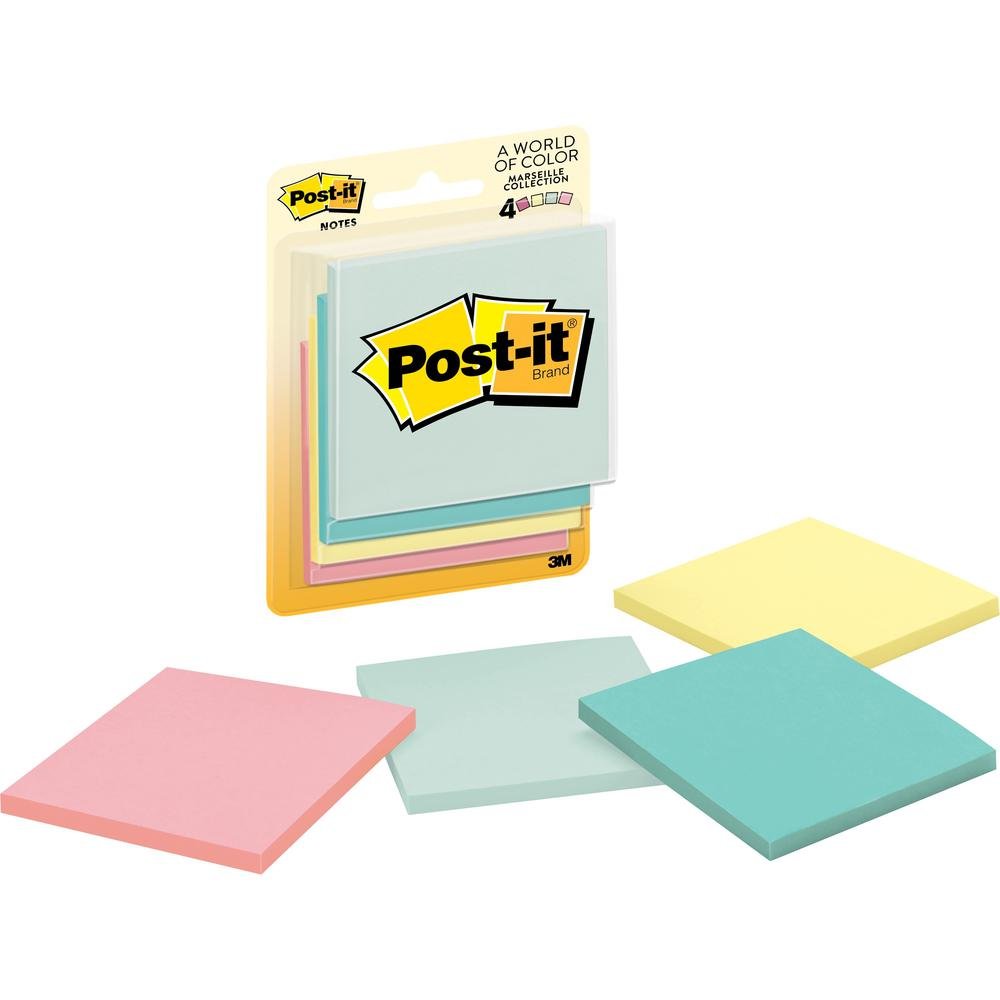 Post It Notes 3 In X 3 In Marseille Color Collection