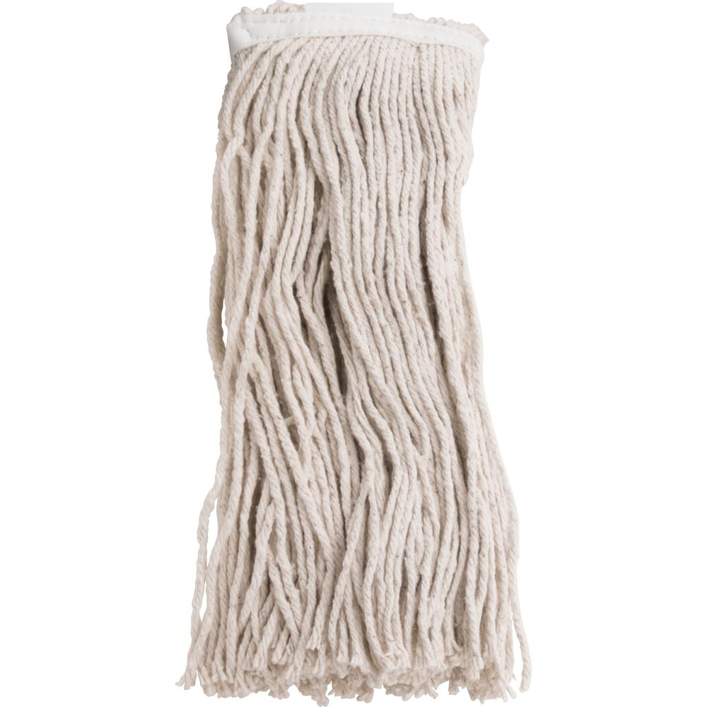 Genuine Joe Cotton Blend Mop Refill - Rayon, Cotton, Polyester. Picture 1
