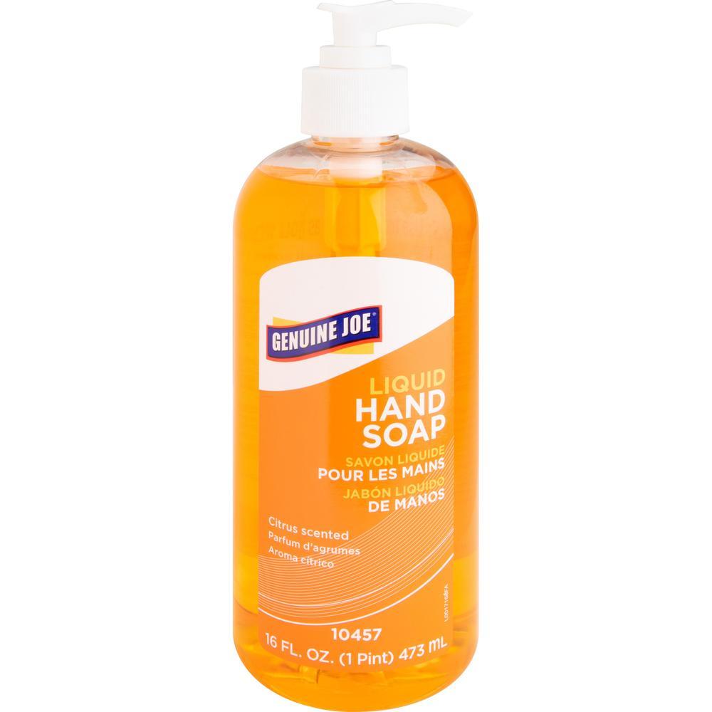 Genuine Joe Hand Soap 16 Oz 16 Fl Oz 473 2 Ml Pump