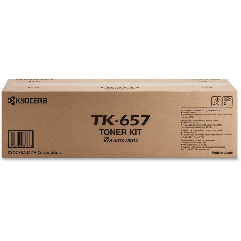 kyocera tk 657 original toner cartridge laser 47000 pages black 1 each. Black Bedroom Furniture Sets. Home Design Ideas