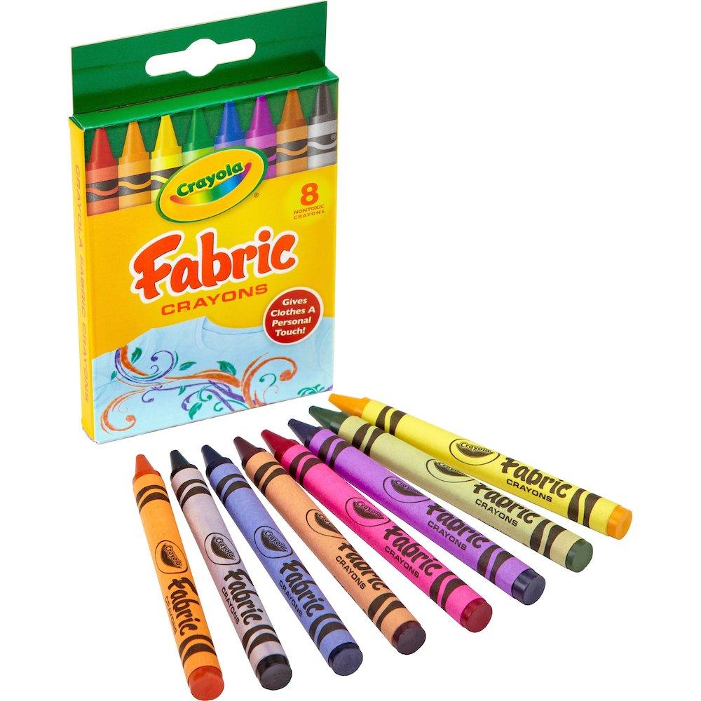 Crayola 8 Ct Fabric Crayon 3 6 Quot Length 0 3 Quot Diameter