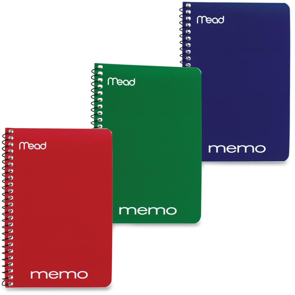"""Mead Wirebound Memo Notebook - 40 Sheets - Wire Bound - 4"""" x 6"""" - Assorted Paper - Tan Cover - Board Cover - 1 / Each. Picture 1"""