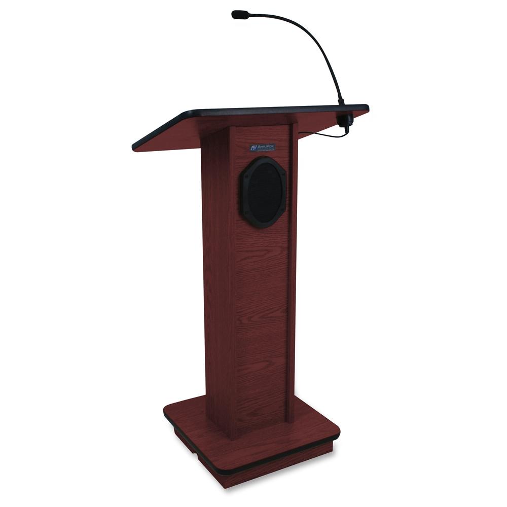 amplivox sound system elite lectern rectangle top 24. Black Bedroom Furniture Sets. Home Design Ideas