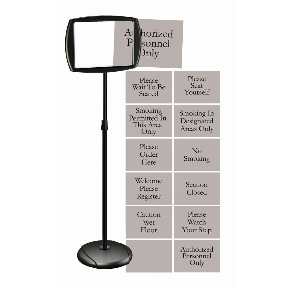 Mastervision Interchangeable Floor Pedestal Sign 1 Each Please