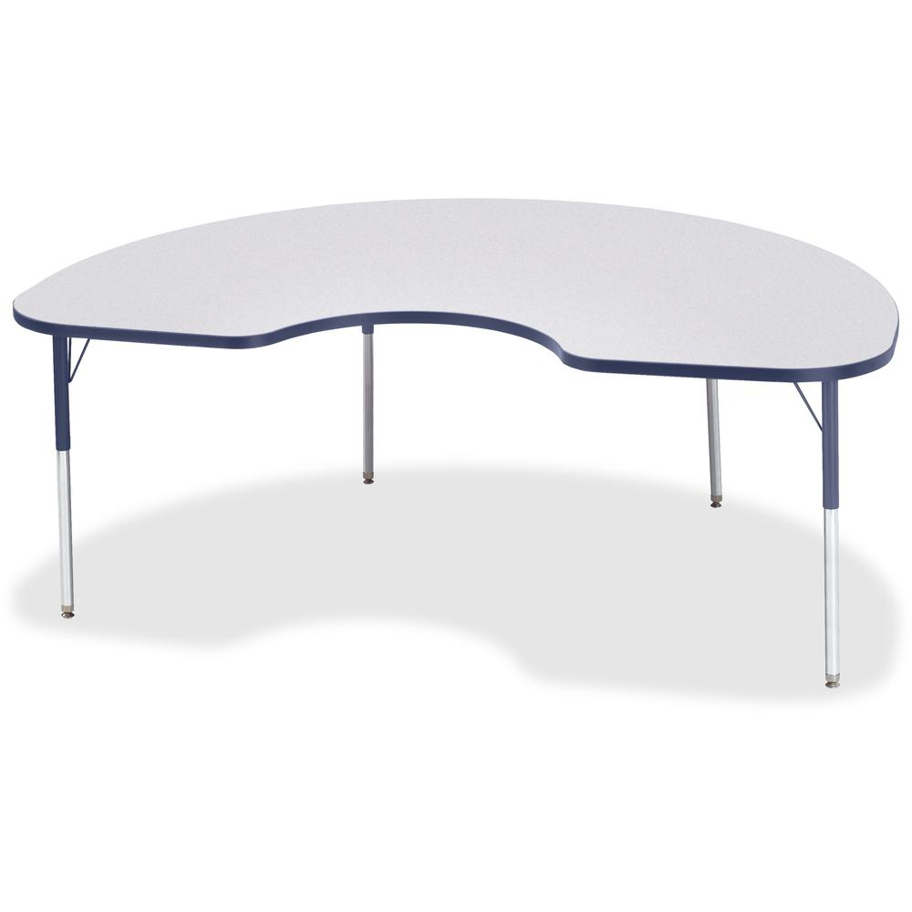 "Jonti-Craft Berries Adult Height Prism Color Edge Kidney Table - Laminated Kidney-shaped, Navy Top - Four Leg Base - 4 Legs - 72"" Table Top Length x 48"" Table Top Width x 1.13"" Table Top Thickness - 3. Picture 1"