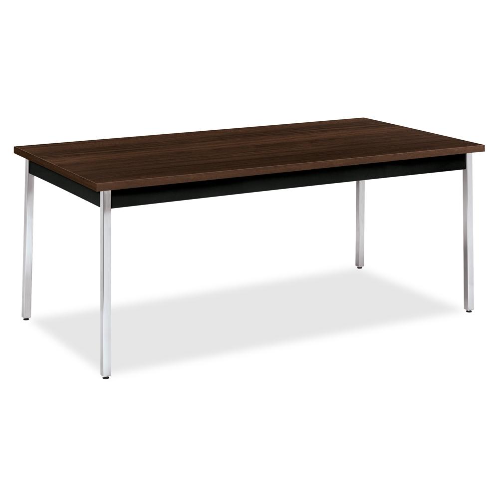 Hon Utility Table Rectangle Top Square Leg Base 4