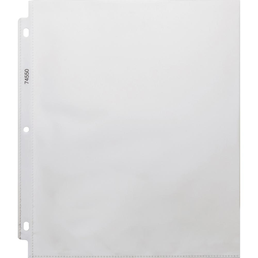 """Business Source Top-Loading Poly Sheet Protectors - 3.3 mil Thickness - For Letter 8 1/2"""" x 11"""" Sheet - Ring Binder - Rectangular - Clear - Poly - 100 / Box. Picture 1"""