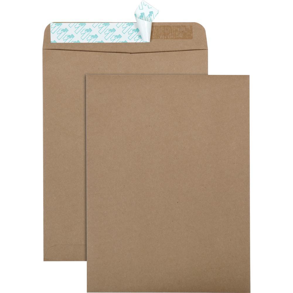 "Quality Park Redi-Strip Eco-friendly Catalog Envelope - Catalog - 10"" Width x 13"" Length - Peel & Seal - 100 / Box - Kraft. Picture 1"