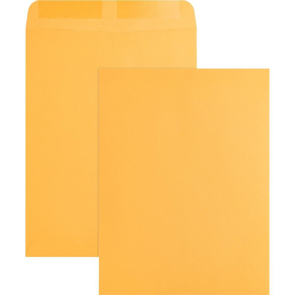 "Business Source Kraft Gummed Catalog Envelopes - Catalog - #10 1/2 - 9"" Width x 12"" Length - 28 lb - Gummed - Kraft - 250 / Box - Kraft. Picture 1"