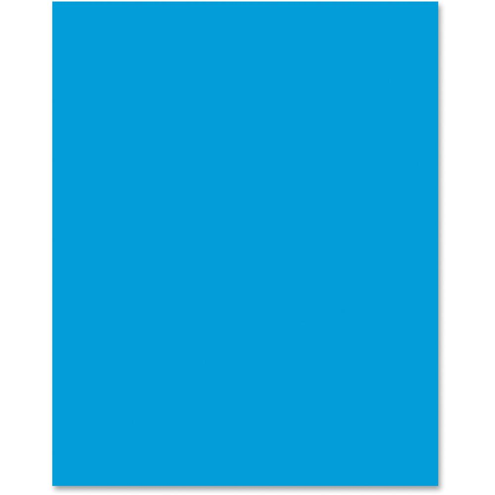 pacon neon poster board 22quot x 28quot 25 carton hot blue